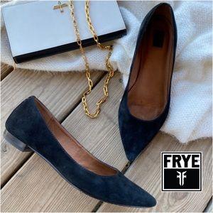 Frye Sienna Suede Pointed Toe Ballet Flat 7